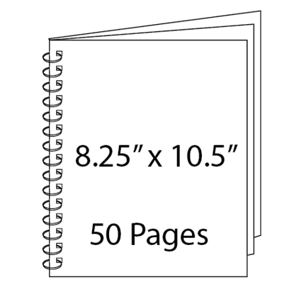 Picture of 8.25 x 10.5 - 50 Page Wire-O Guest Book