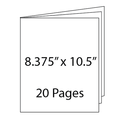 Picture of 8.375 x 10.5 - 20 Page Hidden Wire-O Guest Book