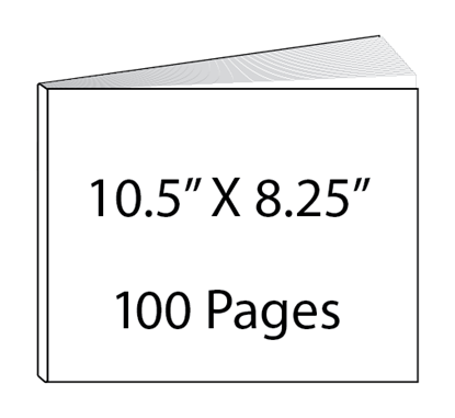Picture of 10.5 x 8.25 - 100 Page Hardcover Guest Book